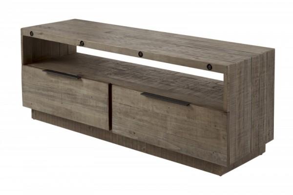 TV-Lowboard Finca 150cm Pinienholz grau 40447