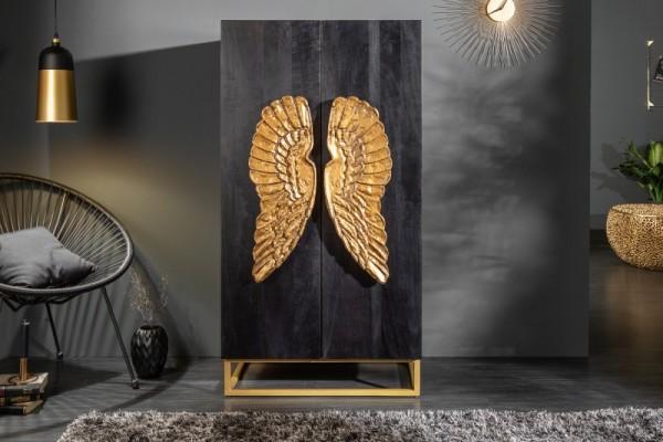 Highboard Angel 70cm Mango schwarz 40056