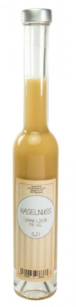 Haselnuss-Sahne-Likör 0,20l Platina-Flasche