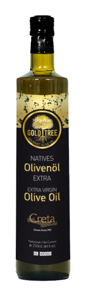 "Natives Olivenöl Extra aus Kreta ""GOLD TREE"" 250ml Dorica-Flasche"