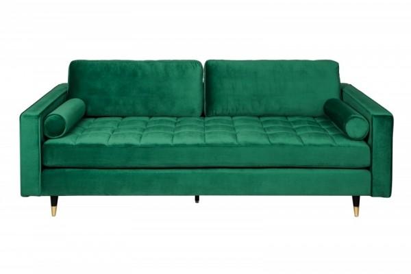 Sofa Cozy Velvet 225cm smaragdgrün Samt