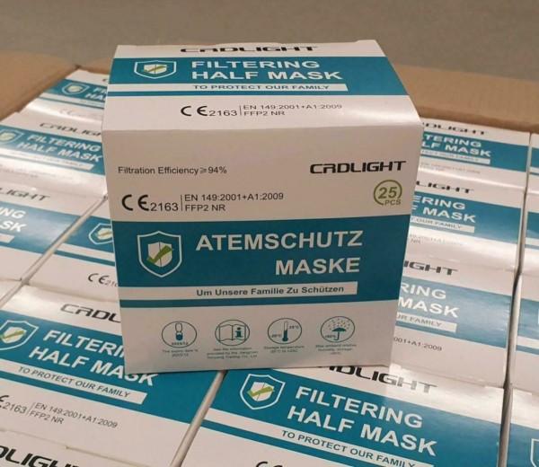 25er Set Atemschutzmasken FFP2 NR, CRDLIGHT