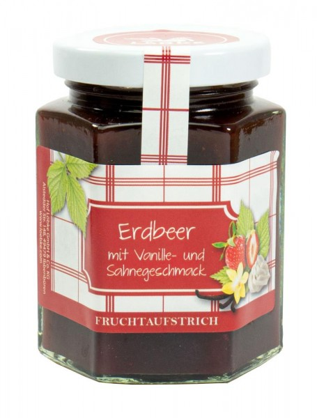 Erdbeer-Vanille-Sahne Fruchtaufstrich 200g