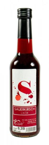 Sauerkirsch-Likör 0,35l Gradhalsflasche