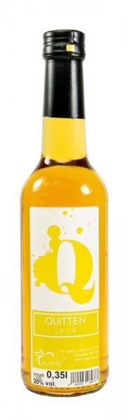 Quitten-Likör 0,35l Gradhalsflasche