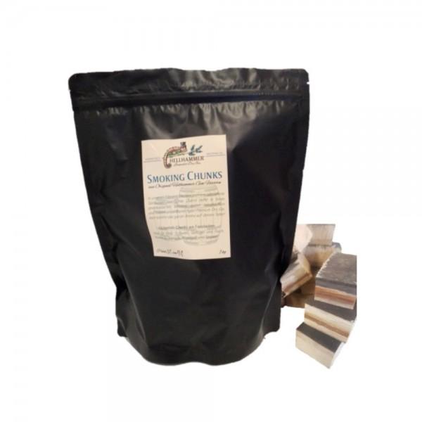 Smoking Chunks aus Eichenholzfässern - Für den besonderen Grill Genuss