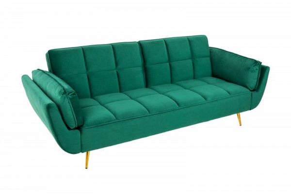 Schlafsofa Boutique 215cm smaragdgrün Samt