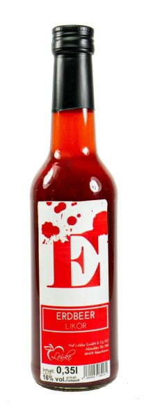 Erdbeer-Likör 0,35l Gradhalsflasche