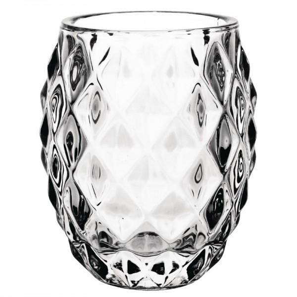 Olympia Teelichthalter Diamantdesign Glas