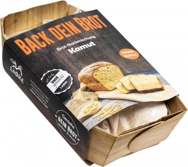Backmischung Kamut Brot 350g Backform