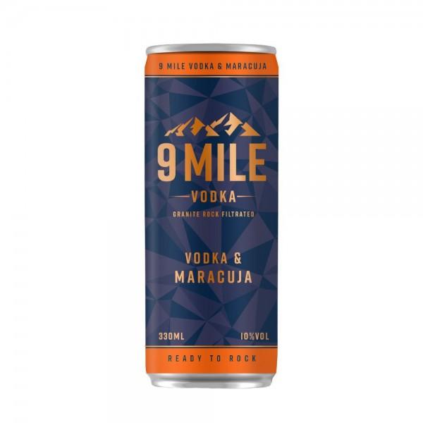 9 MILE Vodka + Maracuja Dose 0,33L (Einweg)