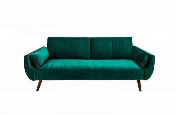 Schlafsofa Divani II 215cm grün Samt