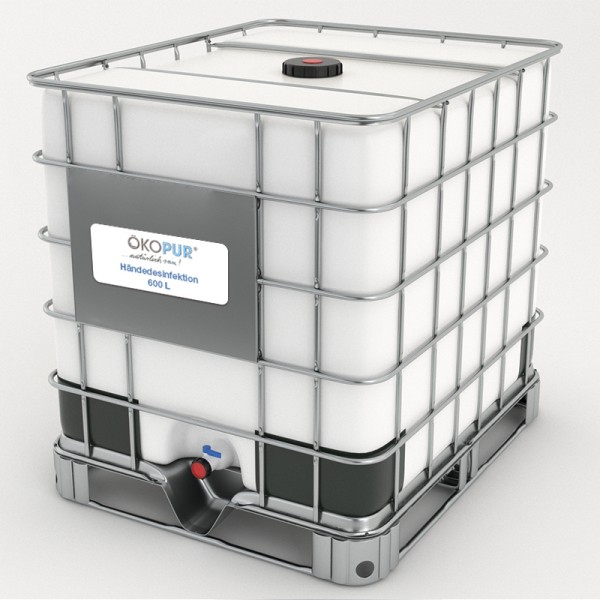 Händedesinfektion 600 L IBC Container