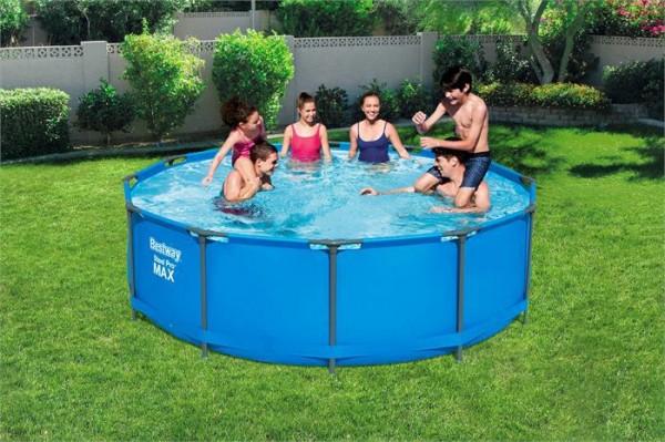 Steel Pro Max™ Frame Pool-Set, rund, mit Filterpumpe & Sicherheitsleiter 366 x 100 cm
