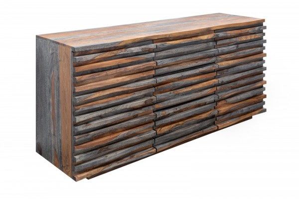 Sideboard Relief 160cm Sheesham smoke 39746