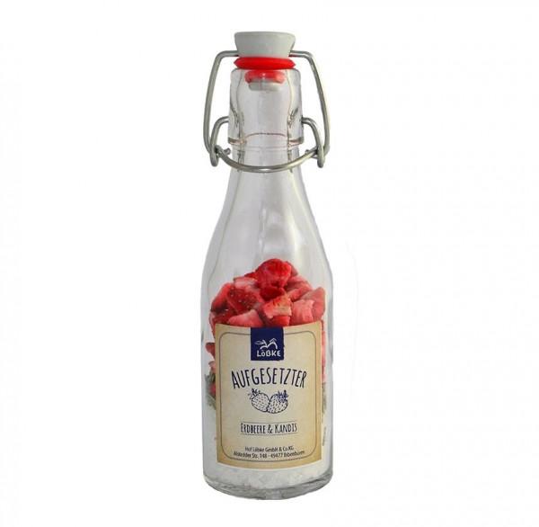 Aufgesetzter Erdbeer & Kandis 65g Bügelflasche
