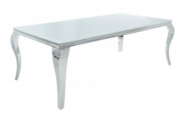 Esstisch Modern Barock 180cm weiss silber 37903