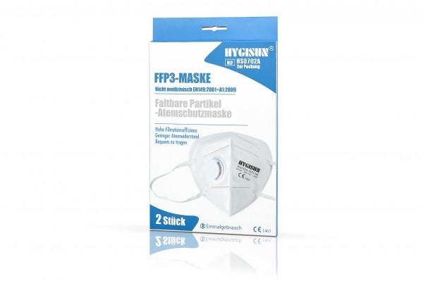 HYGISUN FFP3 Maske mit Ventil (Weiss, 2er Packung)