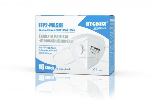 HYGISUN FFP2 Maske mit Ventil Weiss mit CE (HS0502A)