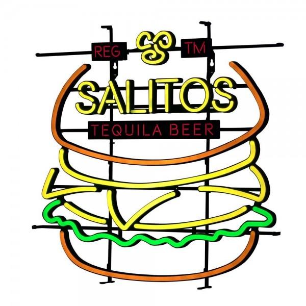 """LED Leuchtreklame Schild """"Burger"""" von SALITOS"""
