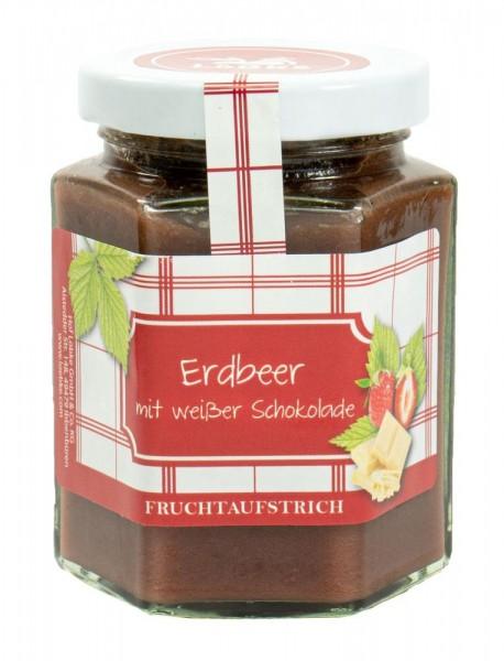 Erdbeer mit weißer Schokolade Fruchtaufstrich 200g