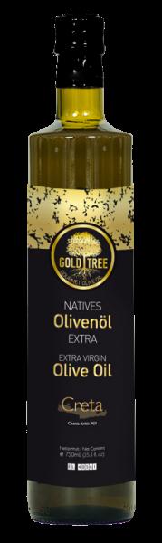 """Extra Virgin Olive Oil from Crete """"GOLD-TREE"""" 750ml Dorica bottle"""