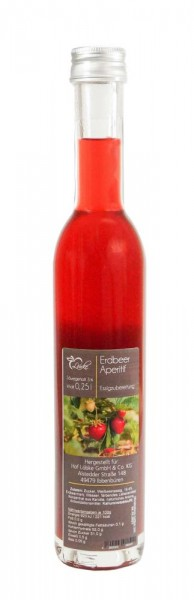 Erdbeere Aperitif Essig 0,25l Vittoria-Flasche