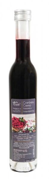 Cranberry Crema Essig 0,25l Vittoria-Flasche