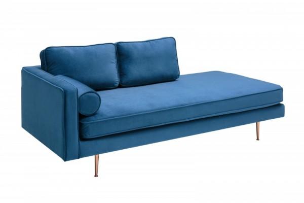 Recamiere Diva 195cm Samt blau