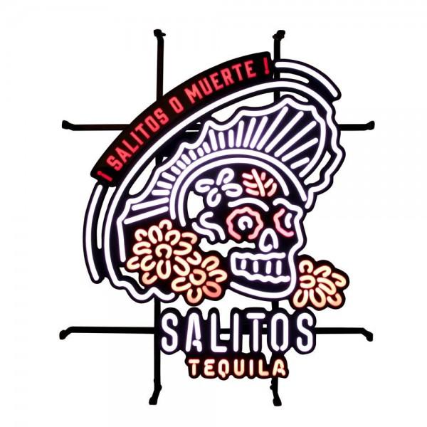 LED Neon Schild mit Muerte Totenkopf Motiv von SALITOS
