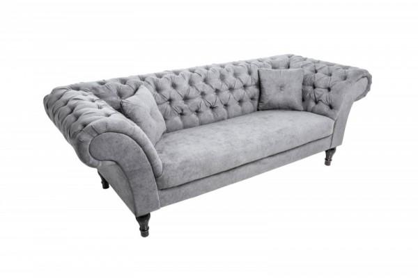 Sofa Paris II 230cm greige Samt