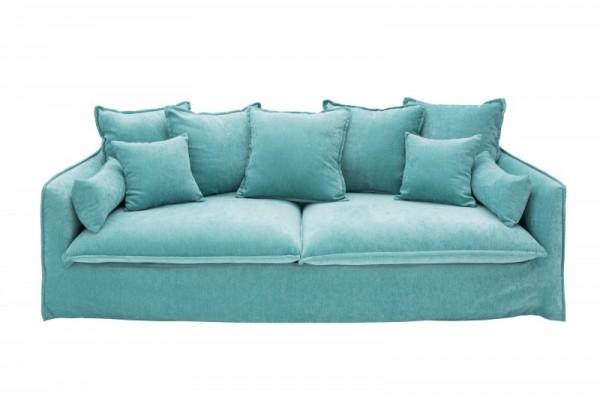 Sofa Heaven II 210cm aqua Samt