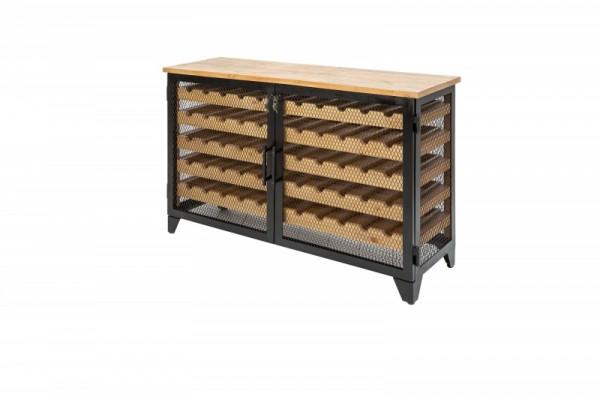 Weinschrank Bodega 127cm Pinienholz natur 40458