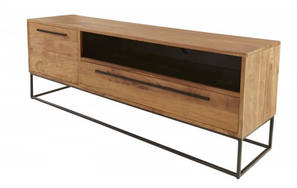 TV Board Straight 165cm Akazie natur 40296