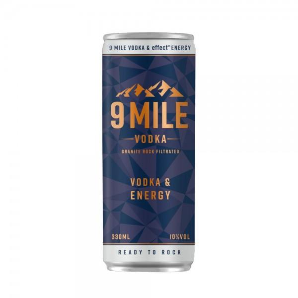 9 MILE Vodka trifft auf effect energy 0,33l