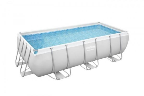 Power Steel™ Frame Pool-Set, eckig, mit Sandfilteranlage & Sicherheitsleiter 404 x 201 x 100 cm