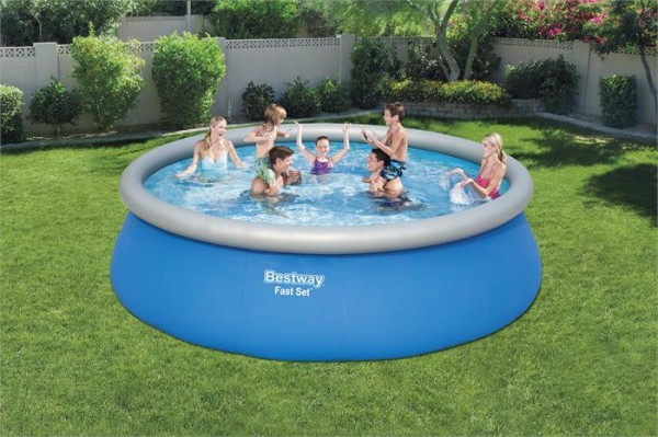 Fast Set™ Pool-Komplettset mit Filterpumpe, rund, 457 x 122 cm