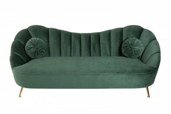 Sofa Arielle 220cm Samt flaschengrün