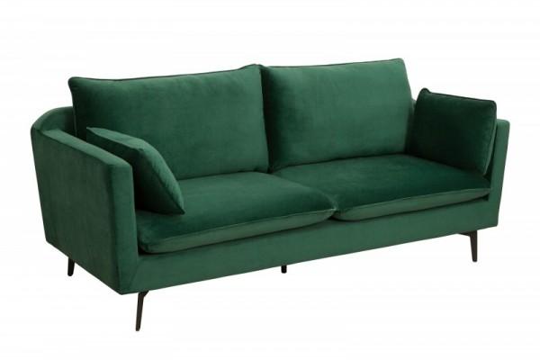 Sofa Famous 210cm grün Samt