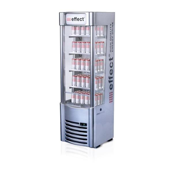 effect Slim Cooler offener Kühlschrank (silber)