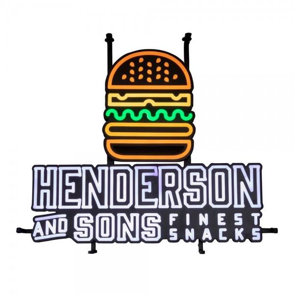 """LED Leuchtreklame Schild """"Burger"""" von Henderson & Sons"""