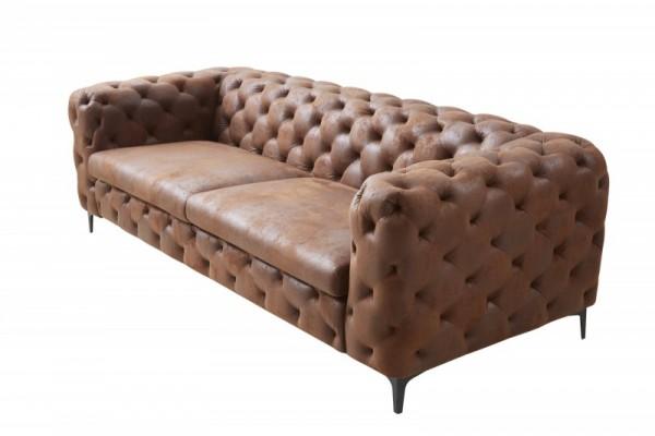 Sofa Modern Barock 240cm antik braun