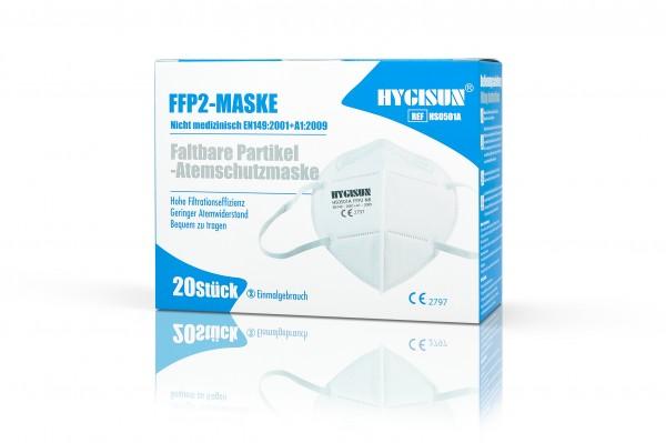 HYGISUN FFP2 (2er Packung) Maske mit CE (HS0501A)