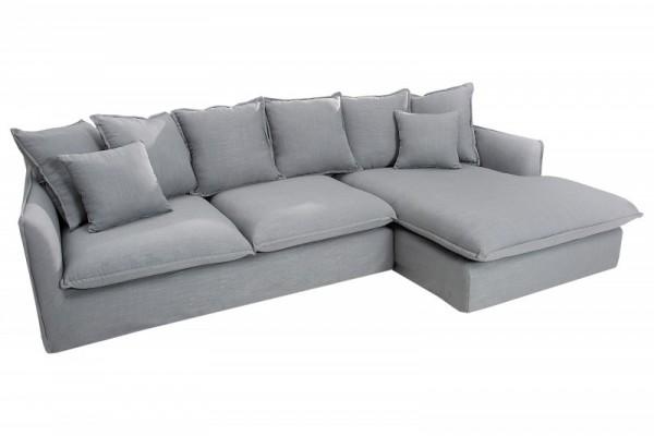 Eck-Sofa Heaven 255cm Leinen grau