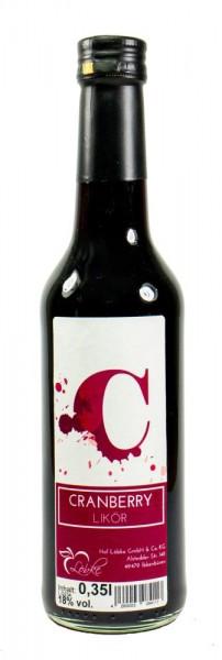 Cranberry-Likör 0,35l Gradhalsflasche