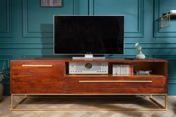 TV Board Straight 165cm Akazie natur gold 40292