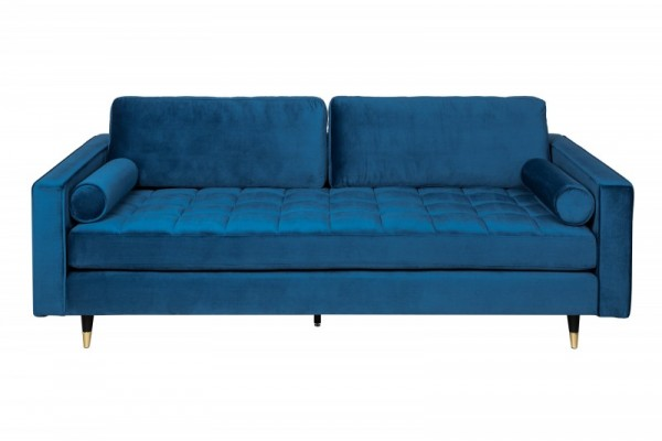 Sofa Cozy Velvet 225cm grau Samt