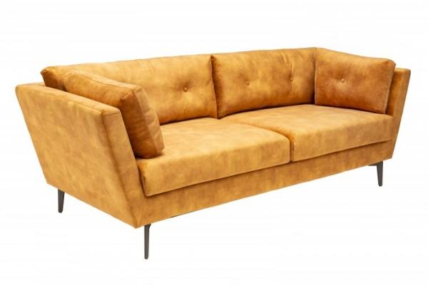 Sofa Marvelous 220cm senfgelb Samt