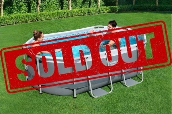 Power Steel™ Frame Pool-Set, oval, mit Filterpumpe 300 x 200 x 84 cm