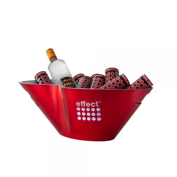 effect Flaschenkühler in Wellen Design (rot)
